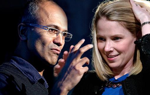 Сатья Наделла, Microsoft — Марисса Майер Yahoo!