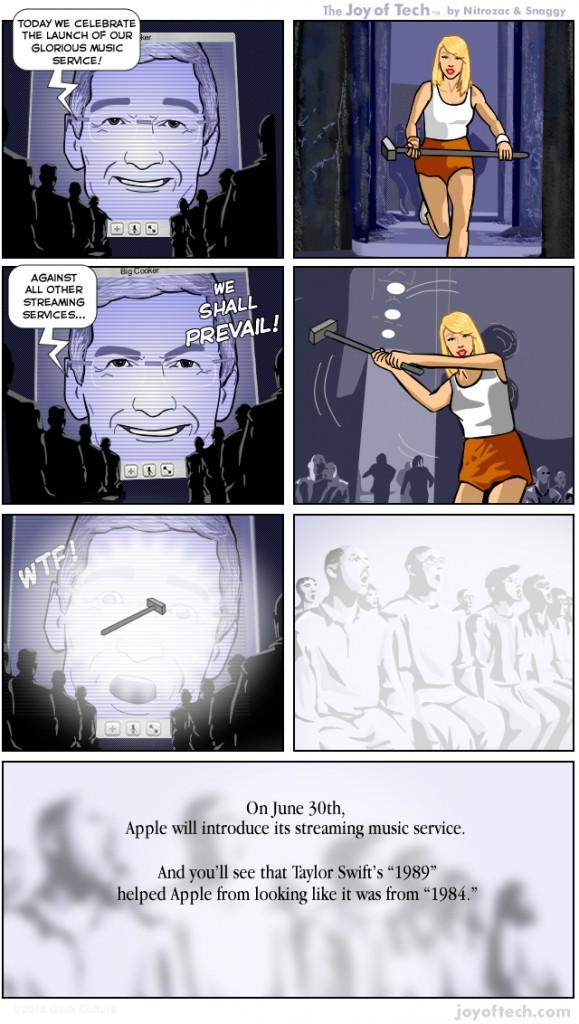 Комикс о том, как Тейлор Свифт спасла Apple от возвращения в 1984