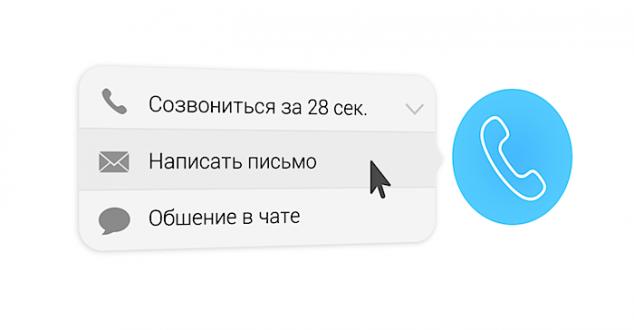 Кнопка связи