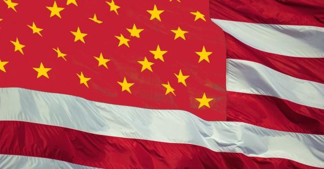 США, Китай, флаг