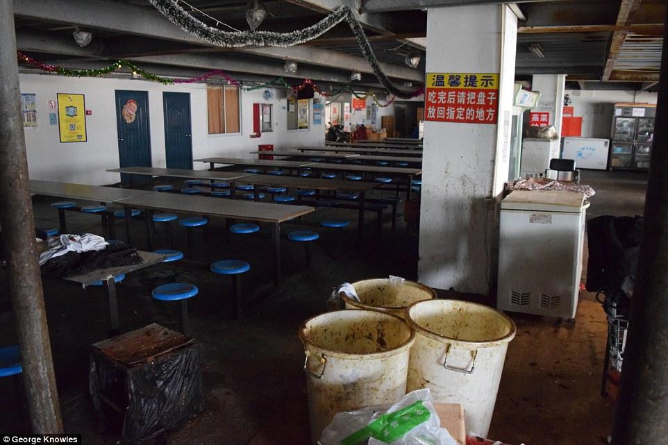 iPhone, как и 4 года назад, собирают нищие из антисанитарных китайских общежитий, общежития заводов Pegatron и Foxconn, собирающих технику Apple, фотография The Daily Mail Столовая