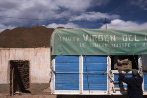 Передвижной универмаг делает остановку в Хуанкаре для обмена и продажи товаров