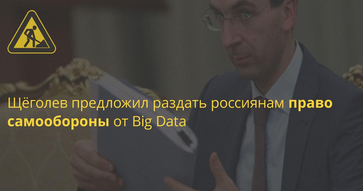 Щёголев предложил раздать россиянам право самообороны от Big Data