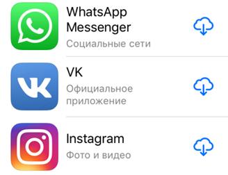 Самыми скачиваемыми приложениями в iTunes остались  WhatsApp, «ВКонтакте» и Instagram