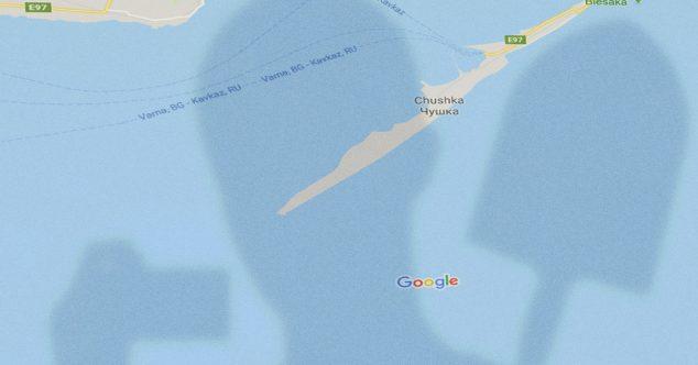 Карты Google, Крымский мост