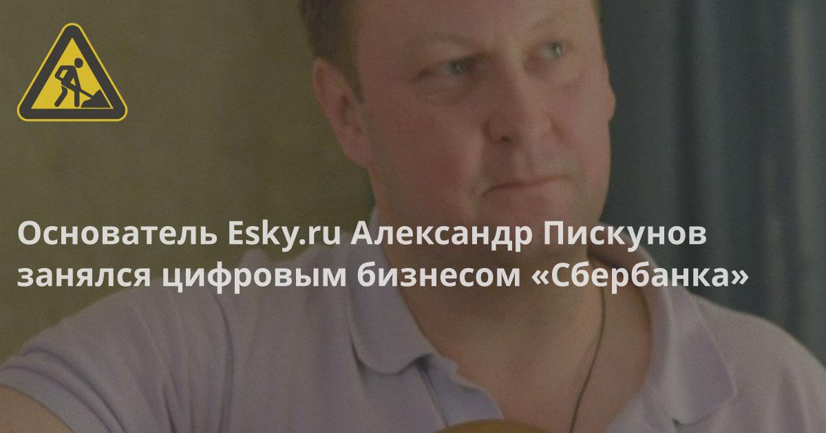Основатель Esky Александр Пискунов занялся цифровым бизнесом «Сбербанка», вместе с Завадским