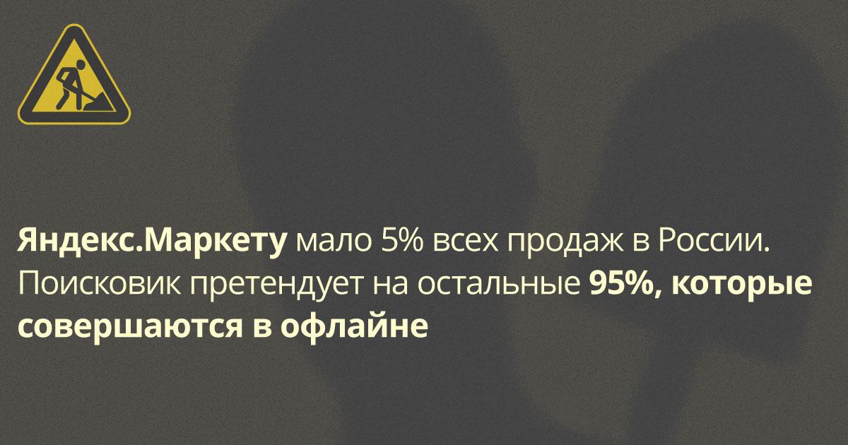 Яндекс.Маркет пойдёт за клиентами Едадила — офлайн-магазинами, у них 95% продаж в России