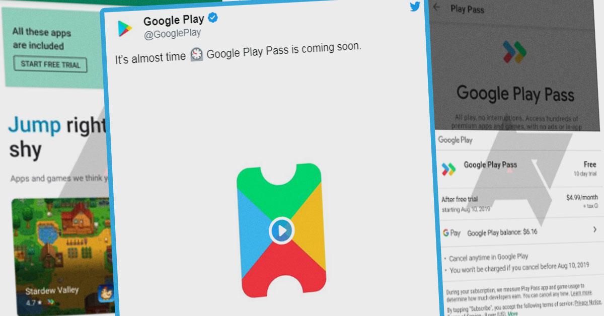 Google анонсировал запуск пакетной подписки Play Pass на игры и приложения