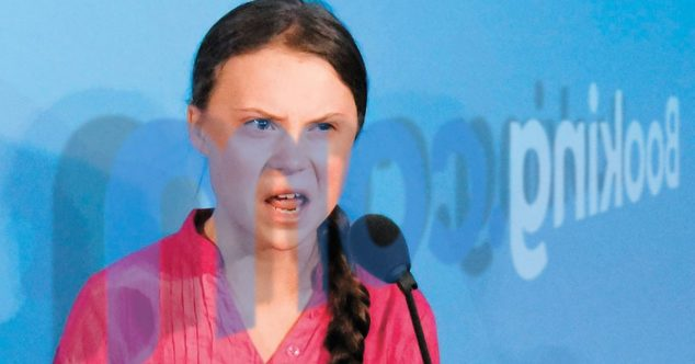 Greta Thunberg booking.com