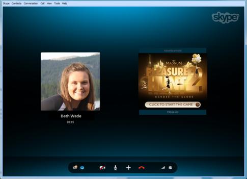 Реклама в Skype