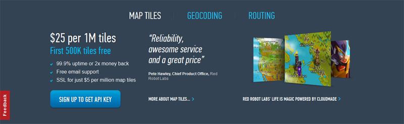 CloudMade, провайдер картографических сервисов на базе OpenStreetMap,  выгоняет маленьких клиентов