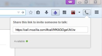 Аудиовидео звонки из Firefox на основе peer-to-peer протокола WebRT